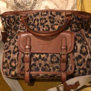 Ralph Lauren handbag, leopard print!  Great!!